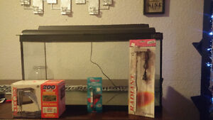 20 gallon Fish Aquarium with heater, filter, lights and thermome