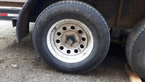"""wanted (1) 205/75r/15"""" trailer tire with a rim"""