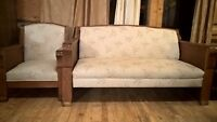 Antique Kroehler Mission Oak Couch and Chair