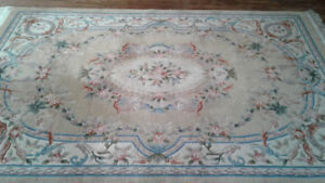 Chinese Aubusson hand knotted area rug - 100% Wool