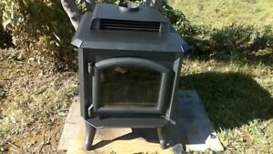 large wood stove
