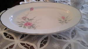 "FINE CHINA OVAL TURKEY PLATTER 16""  - VINTAGE 1960'S - Sale"