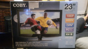 "New 23"" HD 1080P TV/DVD"