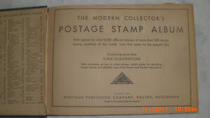 1935 Whitman Publishing Co. Postage Stamp Album with Stamps