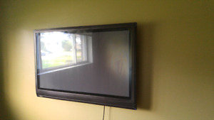 Tv with the full wall mount