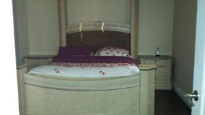 Queen bedroom with mattress