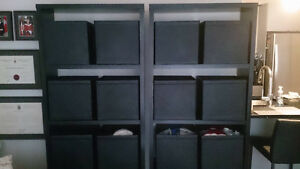 TWO PERFECT CONDITION SHELVES AND BINS!!!!!