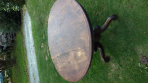 Antique Side folding round table