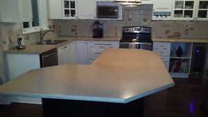 Laminate Island, Counter, Sink and Faucet