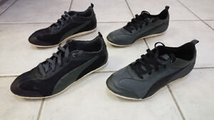 2 Pairs of Used Puma Life Style/Driving Shoes (Sizes 8.5)