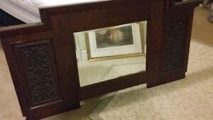 Antique Mirror in Carved Wooden Frame