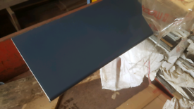 Anthracite grey plastic soffit cladding boards