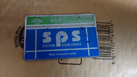 Prison phone card from Scotland