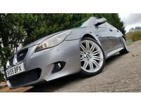 2009 59 BMW 5 SERIES 520D M SPORT BUSINESS EDITION 4D AUTO 175 BHP DIESEL GREY