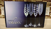 BRAND NEW Mikasa Cheers Set of 4 Champagne Flutes 8 Ounces