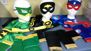 Child's Superhero dress up sets. new. size 4 to 6X.  $4 each