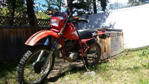 1985 Honda XL 250 $1600