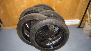 "MODEL ""T"" FORD 21 INCH SPEEDSTER WHEELS WITH HUBS"