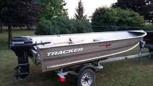 2003 tracker 14ft aluminum with 9.9