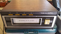 vintage realistic 8track player