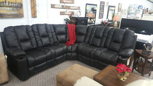 100% GENUINE LEATHER RECLINING SECTIONAL !!EXCEPTIONAL BUY !!!