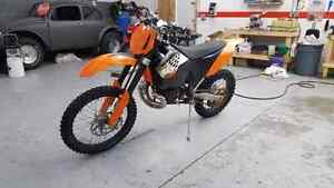 2008 ktm xcw xc-w 250 two stroke cash or trade for sled Edmonton Edmonton Area image 2