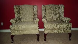 Beautiful Wing Back Chairs (Like New)  $175.00 each or both 300.