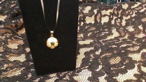 14k Yellow Gold SOCCER BALL Pendant for Chain
