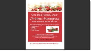 VENDORS WANTED - Holy Family CSC  Christmas Marketplace