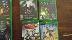 Xbox 1, 3 controllers, 10 games.
