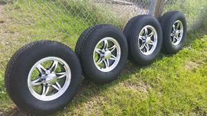 B/New U.S.A Made 10 Ply  ST225/75R-15 tires On B/New 6 Bolt Mags Edmonton Edmonton Area image 2