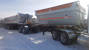 Super-B with lift axle trailer.....
