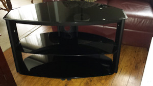 3 Level black glass FLAT PANEL TV Stand FREE DELIVERY