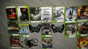 Xbox 360 games and controllers