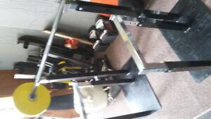Squat racks/Olympic bar/weights