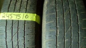 Two Firestone Destination P245 75 16 all season tires
