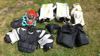 Excellent lightly used Youth Goalie Equipment