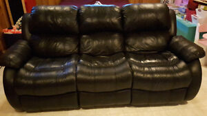 reclining leather couch for sale!