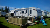 Weekly Camper Trailer rental at Gagnon Beach for 2015, Cap-Pele