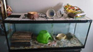 terrarium aquarium pour reptile ou serpent full equiper