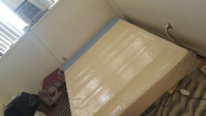 Double size mattress box and steel bed frame