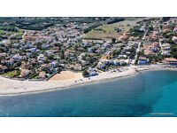 Terraced house residential in the Costa Blanca beach of Spain (Denia). Mediterranean coast sea