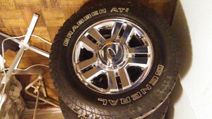 Ford F-150 Chrome Rims and Tires