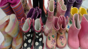 (131) Rain boots for girls from $5