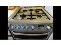 Cannon Chesterfield gas double oven & grill. Freestanding , Grey.