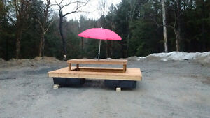 FLOATING PICNIC TABLE AND PARTY DOCK!
