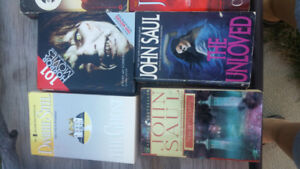 Horror books, John Saul, ect 6 books for $5
