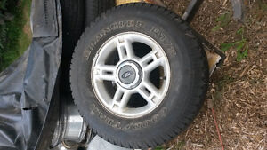 "Ford 16"" Rims with 255/70R16 Tires"