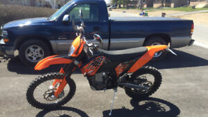 2008 ktm 530 excr blue plated