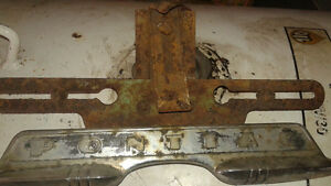 ANTIQUE PONTIAC LICENCE PLATE BRACKET
